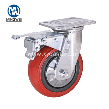 Plate 6 Inch Caster Wheels with Brake